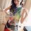 Cami ChillChill Graphic Mix Color Dress by Seoul Secret thumbnail 3