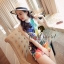 Cami ChillChill Graphic Mix Color Dress by Seoul Secret thumbnail 4
