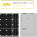 แผงโซล่าเซลล์ Solar Cell 50W Mono