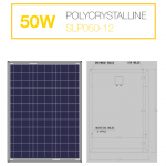 แผงโซล่าเซลล์ Solar Cell 50W Poly