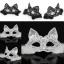 หน้ากากแฟนซีแมวลูกไม้ ขาว thumbnail 3