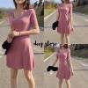 ชุดเดรสเกาหลีพร้อมส่ง Olender Dress เดรสทรงน่ารัก