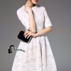 ชุดเดรสเกาหลีพร้อมส่ง Suzan White Lace Luxury Dress