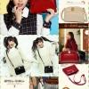 กระเป๋า beibaobao แท้ มี 5 สี ดำ แดง ครีม น้ำเงิน น้ำตาล ขนาด 22*16*6 ซม. ราคา 990 บาท