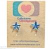 ต่างหูพลาสติก,ต่างหูก้านพลาสติก,ต่างหูเด็ก E29008 Blue Turquoise Star Earring ต่างหู ราคาถูก
