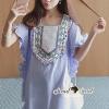 ชุดเดรสเกาหลี พร้อมส่งBohe Dotty Color Bell Furnish Dress