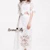 เสื้อผ้าเกาหลี พร้อมส่ง Elegant White lace set