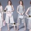 เสื้อผ้าเกาหลี พร้อมส่งLacey V Pricess Lace set
