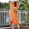 Dress ทรงยาว ปลายระบายแบบเย็บจีบ ทรงเก๋มากๆคะ