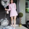 ชุดเดรสเกาหลีพร้อมส่ง Mini dress หวานน่ารักในลุคคุณหนู