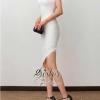 เสื้อผ้าเกาหลี พร้อมส่งWhite Luxury Elegant Sexy Dress