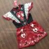 เสื้อผ้าแฟชั่นพร้อมส่ง จั้ทสูทจาสั้นโทนแดงดำ สุดตั้ลล้าค