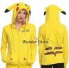เสื้อผ้าเกาหลี พร้อมส่งเสื้อแขนยาวผ้าสำลีสีเหลือง แต่งซิปผ่าหน้า