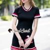 ชุดเดรสเกาหลีพร้อมส่ง Pleaty PinkRed Rimmy Skirt Flamingo Dress
