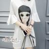ชุดเดรสเกาหลี พร้อมส่งเดรสคอกลมสไตล์ น่ารักๆพิม รูปผู้หญิงชนเผ่าลาย3มิติ