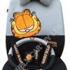 ชุดคลุมเบาะรถยนต์ ลาย Garfield (สีเทา-ดำ)