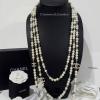 พร้อมส่ง Chanel Necklace รุ่นนี้เป็นงานมุกทูโทน 3 ชั้น