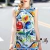 เสื้อผ้าเกาหลี พร้อมส่งD&G new collection 2016 dress
