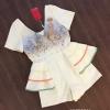 เสื้อผ้าเกาหลีพร้อมส่ง จั้มสูทขาสั้นคอวีพิมพ์ลายกราฟฟิกสุดน่ารัก