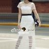 ชุดเดรสเกาหลี พร้อมส่งIvory Heartly K\Lace Party Maxi Dress