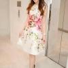 ชุดเดรสเกาหลี พร้อมส่ง Dress Digital print ลายดอกไม้ลายสวยคมชัด ใช้ผ้าไหมผสมซาติน