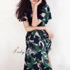 ชุดเดรสเกาหลี พร้อมส่งMaxi Dress งานแบรนด์ดัง Pattern