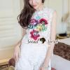 เสื้อผ้าเกาหลี พร้อมส่งGirly Bloom Stick Lace Set