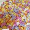 น้ำตาลแต่งหน้าเค้ก Sprinkles ลายดอกไม้ 9.5 มิลลิเมตร