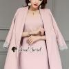 เสื้อผ้าเกาหลีพร้อมส่ง Chic Coral Pink Cami Suite Set