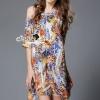 ชุดเดรสเกาหลี พร้อมส่งFeather Bohe Color Summer Dress