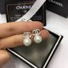 ต่างหูเพชร CZ ล้อมมุกแบรนด์ Chanel สวยๆ ราคา 990฿ Made in korea
