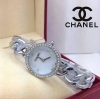 Chanel มาใหม่ สายโซ่ เรือนเงิน ทอง หน้าปัดล้อมเพชร ตัวเลขบอกเวลา แทนด้วยเพชร