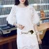 ชุดเดรสเกาหลี พร้อมส่งKorea Luxy Premium Lace Dress