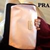 Prada Candy cosmetic & clutch Bag กระเป๋าสี Pastel Pink ใบนี้เป็นเจ้าของได้ในราคาไม่แพงค่ะ ตัวกระเป๋า เป็น ผ้า silk เนื้อลื่น อย่างดีคะ (เป็น กระเป๋าพรีเมี่ยมจากเคาน์เตอร์เครื่องสำอางค์ค่ะ) Size 21x16x6 cm. ราคา 990฿