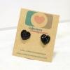 E29048 The Black Heart ต่างหูพลาสติก,ต่างหูก้านพลาสติก,ต่างหูเด็ก