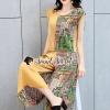 เสื้อผ้าเกาหลีพร้อมส่ง Chic Chic Two tone Yellow Vintage Set