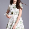 ชุดเดรสเกาหลี พร้อมส่งLeafly Lace Princess Dress