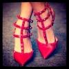 รองเท้าหัวแหลม valentino ส้นแบน วัสดุทำจากหนัง pu นิ่มๆๆ ขอบอกว่าใส่สบายมาก สายเป็นตะขอ