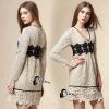ชุดเดรสเกาหลีพร้อมส่ง Vanilla Luxury Lace Dress