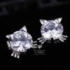 พร้อมส่ง Girl gift Kitty Stud Earrings Small CZ Diamond