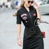 ชุดเดรสเกาหลีพร้อมส่งDress สีดำ ดีไซ Sport Girls