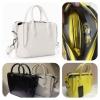 Zara Gussetted shopper bag ข้างในมีกระเป๋าแยกอีก 1 ใบ สายยาว119cm. ถอดได้