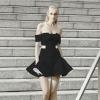 ชุดเดรสเกาหลีพร้อมส่ง mini dress ที่บรรจงตัดต่อผ้าสองสี