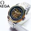 นาฬิกาแฟชั่นแบรนด์ omega *รายละเอียดสินค้า* -นาฬิกาสายเลส สี 2 เค สีเงิน -ระบบเรือน ออโต้ โชว์เฟือง -เพศที่สวมใส่ ชาย -ขนาดหน้าปัด 40 mm. ราคา 1090฿