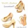 รองเท้าคัชชูส้นสูง ทรง สวย เริศ มาก ๆๆๆ คะ ส้น glitter