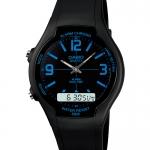 Casio ของแท้ ประกันศูนย์ AW-90H-2B CASIO นาฬิกา ราคาถูก ไม่เกิน หนึ่งพัน