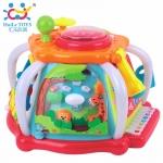 FH676.Huile Toys กล่องกิจกรรม 6ด้าน Interesting Little World กล่องกิจกรรม 6 ด้าน (ขนาดใหญ่) Huile Toys Activity Fun Box แบรนด์คุณภาพระดับ Premium มีจำหน่ายในห้างชั้นนำ มีกิจกรรมหลายอย่าง มีแสงไฟวิบวับ มีเสียงดนตรี 16 เพลง คีย์บอร์ด กระจกส่องได้จริงเมื่อกด