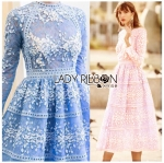Eva Modern Feminine Lace Midi Dress