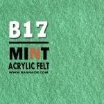 Felt-B17 ผ้าสักหลาดสองหน้าเนื้อนิ่ม ขนาด 30x30 เซนติเมตร