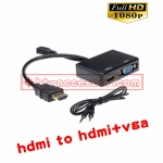 hdmi mhl to hdmi vga with audio splitter adapter 1080P